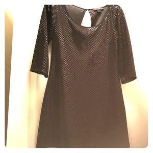 Express Black 3/4th Sleeve Dress, XS